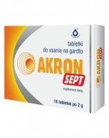 Akron sept 2 g x 16 tabletek do ssania