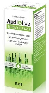 Audiolive spray do uszu 15 ml