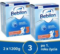 Bebilon junior 3 Pronutra ADVANCE w dwupaku 2 x 1200 g