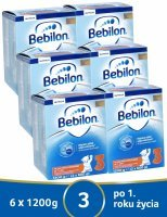 Bebilon junior 3 Pronutra ADVANCE w sześciopaku 6 x 1200 g