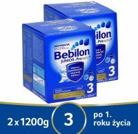 Bebilon junior 3 z pronutra+ w dwupaku - 2 x 1200 g
