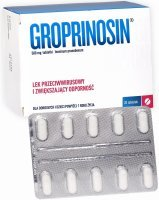 Groprinosin 500 mg x 20 tabl