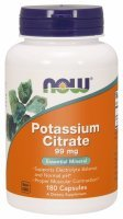 NOW Foods Potassium Citrate 99 mg – Cytrynian potasu x 180 kaps