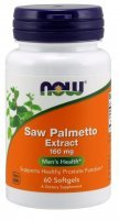NOW Foods Saw Palmetto – ekstrakt 160 mg x 60 kaps