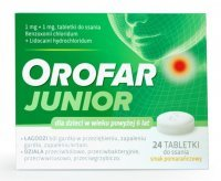 Orofar junior  x 24 tabl do ssania