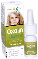 Oxalin Junior 0,5 mg/g żel do nosa 10 g