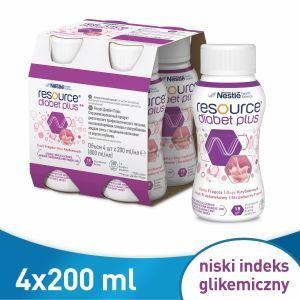 Resource diabet plus truskawka 4 x 200 ml